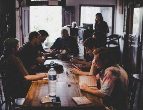 workshop around table